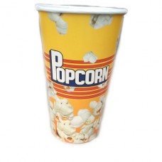 Картонный стакан для попкорна V18, объём стакана попкорн 0,5 литра