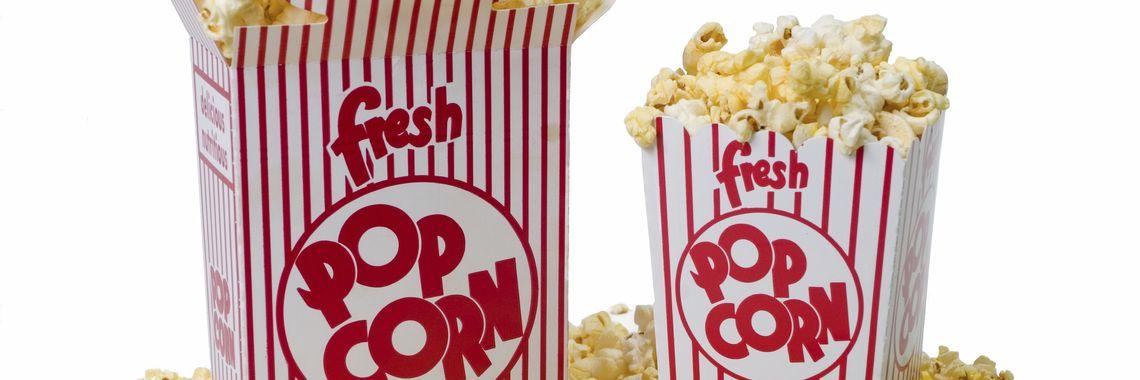 Упаковка для попкорна, стаканы, коробочки