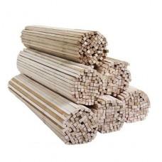 Деревянные палочки для сахарной ваты, 5*5*400 мм