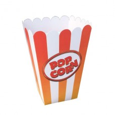 Коробочка для попкорна, V46, 1.5литра, красно-оранжевая