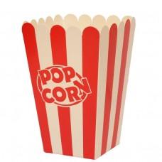 Стакан для попкорна, V46, 1.5литра, красно-белый